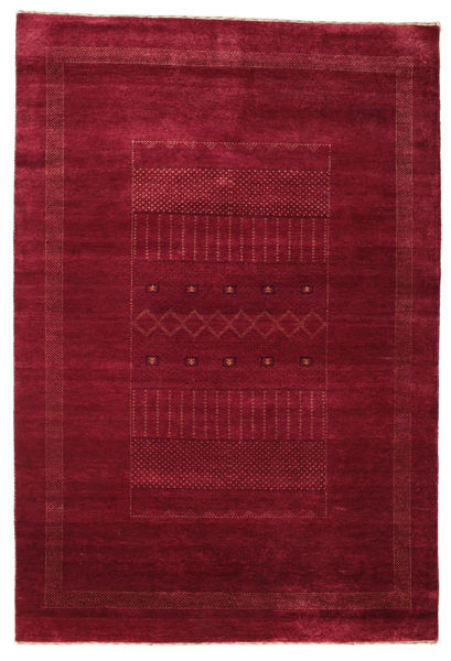 Gabbeh Loribaft Rug 150X220 Authentic  Modern Handknotted Dark Red (Wool, India)
