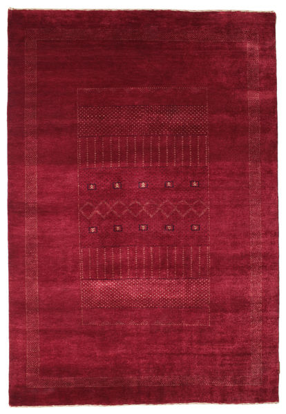 Gabbeh Loribaft Rug 147X215 Authentic  Modern Handknotted Dark Red/Crimson Red (Wool, India)