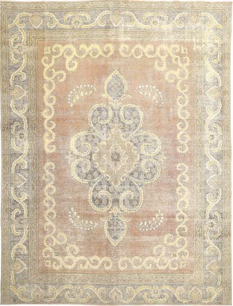 Colored Vintage Teppe 298X385 Ekte Moderne Håndknyttet Lysbrun/Beige Stort (Ull, Persia/Iran)