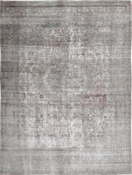 Colored Vintage Rug 291X390 Authentic  Modern Handknotted Light Grey Large (Wool, Persia/Iran)