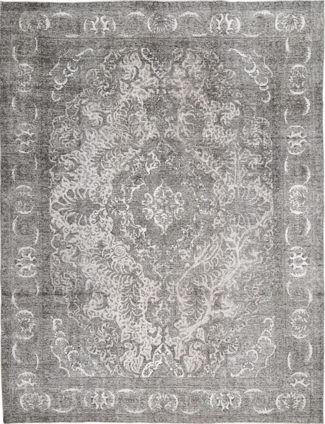 Colored Vintage Rug 282X367 Authentic  Modern Handknotted Light Grey/Dark Grey Large (Wool, Persia/Iran)