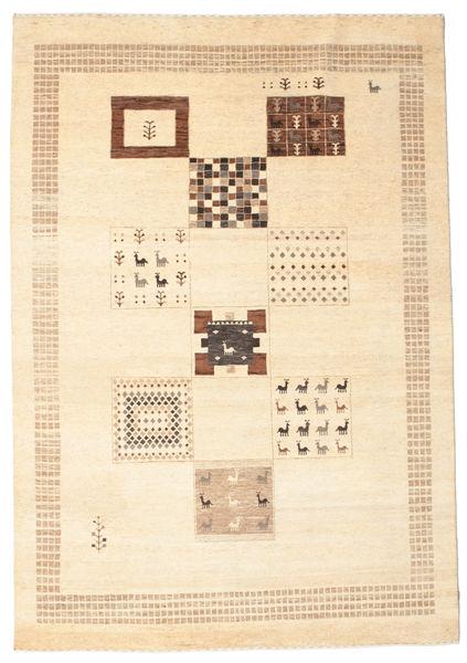 Gabbeh Loribaft Matto 195X281 Moderni Käsinsolmittu Beige (Villa, Intia)