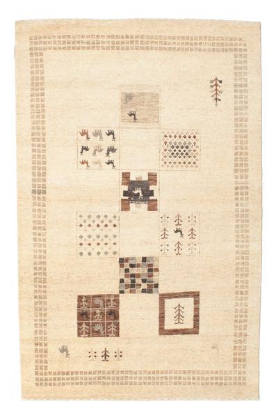 Gabbeh Loribaft Matta 144X225 Äkta Modern Handknuten Gul/Beige (Ull, Indien)