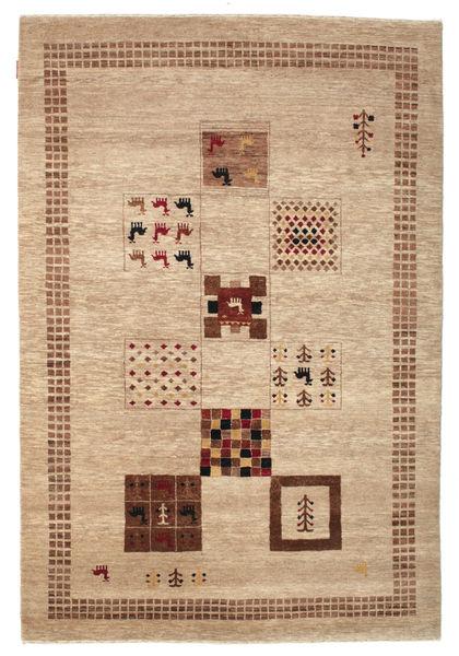 Gabbeh Loribaft Matto 151X223 Moderni Käsinsolmittu Vaaleanruskea/Tummanbeige (Villa, Intia)