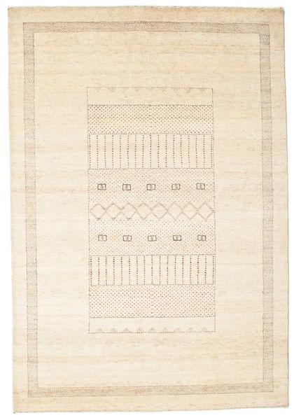 Gabbeh Loribaft Matto 151X220 Moderni Käsinsolmittu Beige/Keltainen (Villa, Intia)