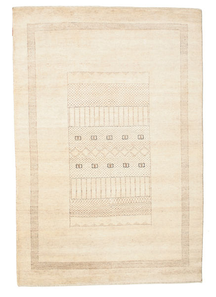 Gabbeh Loribaft Rug 147X217 Authentic  Modern Handknotted Beige/Yellow (Wool, India)