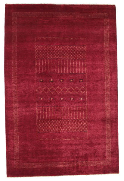 Gabbeh Loribaft Matto 151X230 Moderni Käsinsolmittu Punainen/Tummanpunainen (Villa, Intia)