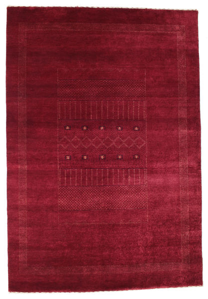 Gabbeh Loribaft Rug 146X215 Authentic  Modern Handknotted Dark Red/Crimson Red (Wool, India)