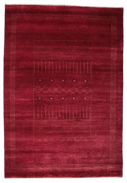 Gabbeh Loribaft Matto 153X220 Moderni Käsinsolmittu Tummanpunainen/Punainen (Villa, Intia)