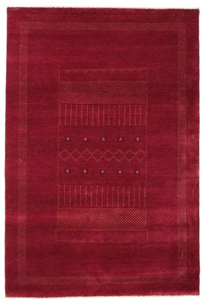 Gabbeh Loribaft Rug 150X225 Authentic  Modern Handknotted Dark Red/Crimson Red (Wool, India)