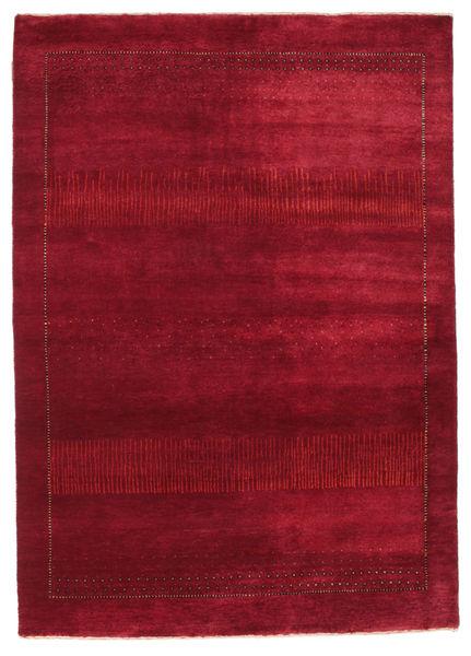 Gabbeh Loribaft Rug 145X205 Authentic  Modern Handknotted Crimson Red/Dark Red (Wool, India)