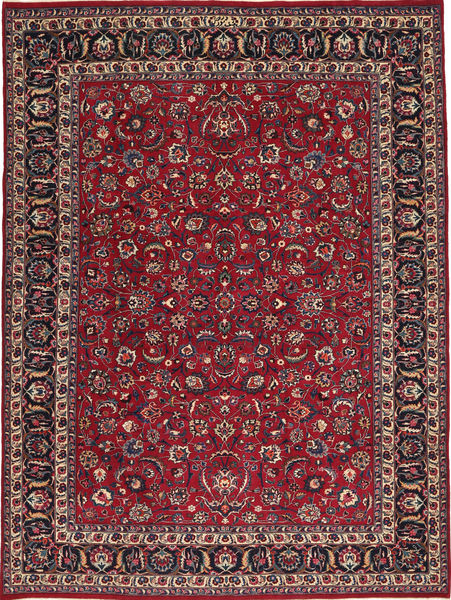 Mashad Patina Getekend: Golpur Drakhsh Vloerkleed 250X335 Echt Oosters Handgeknoopt Donkerrood/Donkergroen Groot (Wol, Perzië/Iran)