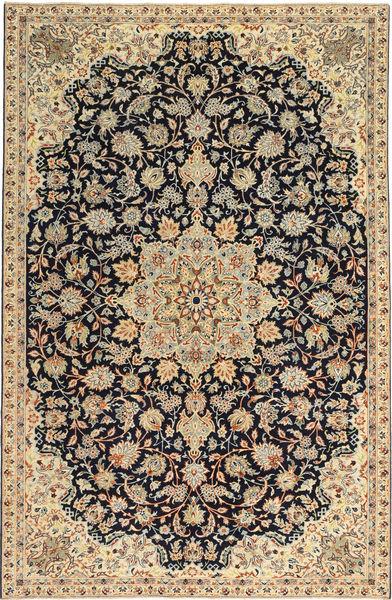 Najafabad Patina Matta 213X332 Äkta Orientalisk Handknuten Mörkbeige/Svart (Ull, Persien/Iran)
