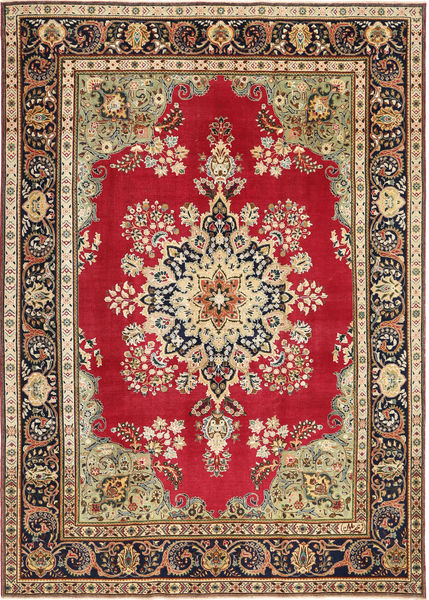 Tabriz Patina Rug 240X337 Authentic  Oriental Handknotted Dark Brown/Light Brown (Wool, Persia/Iran)