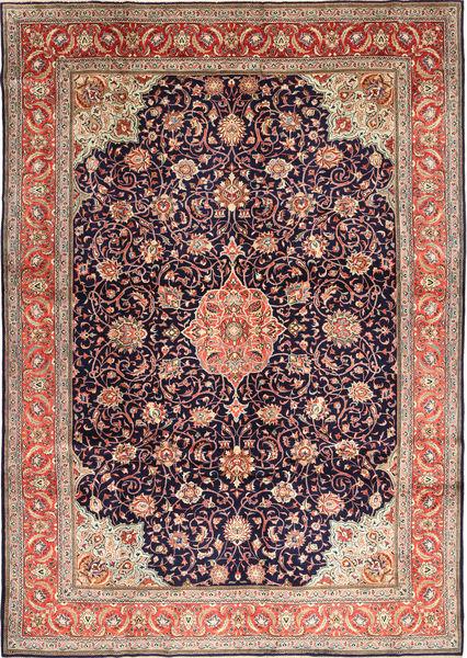 Sarough Matto 278X393 Itämainen Käsinsolmittu Vaaleanruskea/Tummanvioletti Isot (Villa, Persia/Iran)