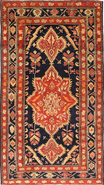 Ardebil Patina Rug 168X295 Authentic  Oriental Handknotted Dark Purple/Rust Red (Wool, Persia/Iran)