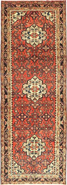 Hosseinabad Vloerkleed 113X320 Echt Oosters Handgeknoopt Tapijtloper Donkergrijs/Lichtbruin (Wol, Perzië/Iran)