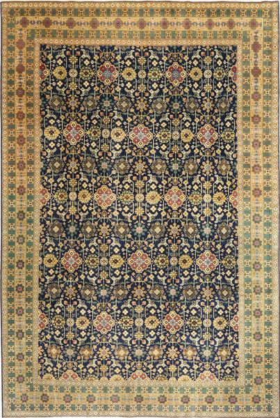 Tabriz Patina Matto 244X360 Itämainen Käsinsolmittu Vaaleanruskea/Musta (Villa, Persia/Iran)