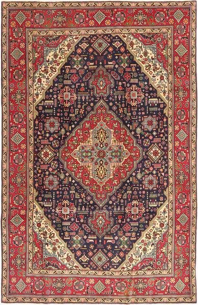 Tabriz Patina Matto 200X312 Itämainen Käsinsolmittu Ruskea/Tummanruskea (Villa, Persia/Iran)