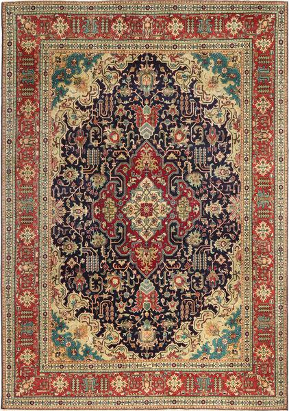 Tabriz Patina Matto 240X350 Itämainen Käsinsolmittu Vaaleanruskea/Tummanpunainen (Villa, Persia/Iran)