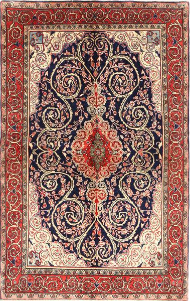 サルーク 絨毯 132X217 オリエンタル 手織り 茶/濃い紫 (ウール, ペルシャ/イラン)