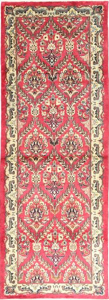 カシュマール 絨毯 100X288 オリエンタル 手織り 廊下 カーペット 薄茶色/ピンク (ウール, ペルシャ/イラン)
