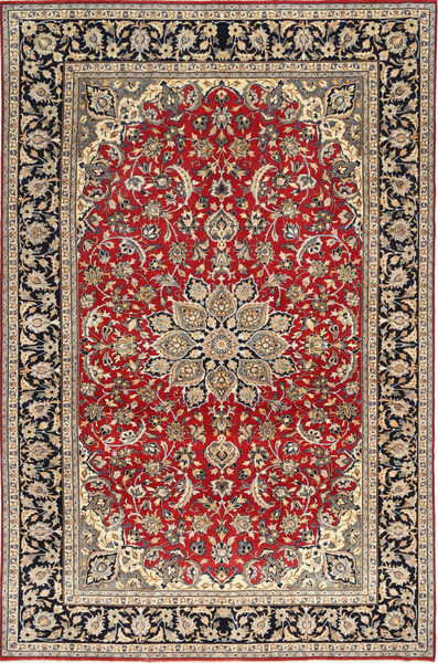 Najafabad Patina Teppe 248X375 Ekte Orientalsk Håndknyttet Lysbrun/Mørk Rød (Ull, Persia/Iran)