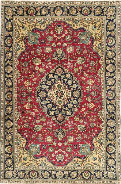 Tabriz Patina Matto 200X305 Itämainen Käsinsolmittu Tummanharmaa/Tummanbeige (Villa, Persia/Iran)