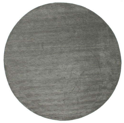 Handloom - Dark Grey Rug Ø 300 Modern Round Dark Grey Large (Wool, India)