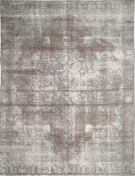 Colored Vintage Rug 282X365 Authentic  Modern Handknotted Light Grey/Dark Grey Large (Wool, Persia/Iran)