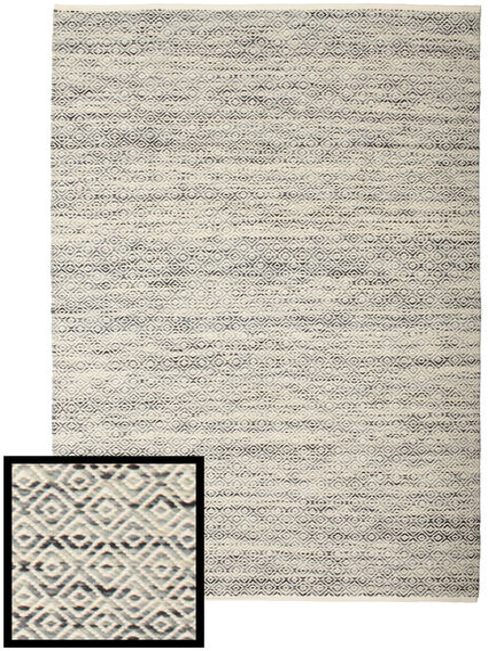 Hugo - 黒 / グレー 絨毯 CVD14453