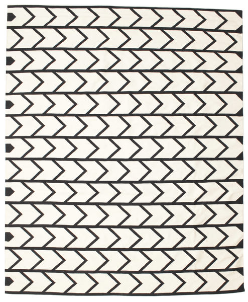 Delia Rug 250X300 Authentic  Modern Handwoven Beige/Black Large (Cotton, India)
