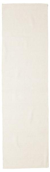 Kilim Loom - Cream Rug 80X300 Authentic  Modern Handwoven Hallway Runner  Beige (Wool, India)