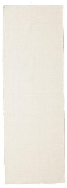 Kilim Loom - Cream Dywan 80X250 Nowoczesny Tkany Ręcznie Chodnik Beżowy/Ciemnobeżowy (Wełna, Indie)