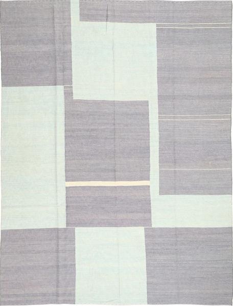 キリム モダン 絨毯 207X278 モダン 手織り 薄い灰色/ベージュ (ウール, アフガニスタン)