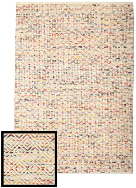 Hugo - Multi Rug 200X300 Authentic  Modern Handwoven Yellow/Light Brown ( India)