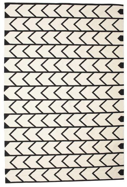 Delia Szőnyeg 200X300 Modern Kézi Szövésű Bézs/Fekete (Pamut, India)
