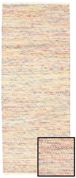Hugo - Multi Rug 80X300 Authentic  Modern Handwoven Hallway Runner  Beige/Light Pink/Light Brown ( India)