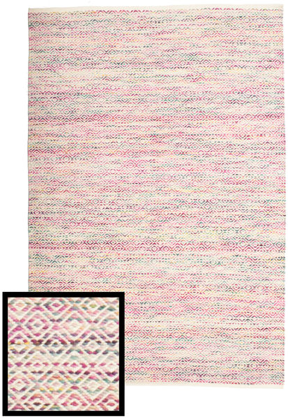 Hugo - Multi Pink Rug 140X200 Authentic  Modern Handwoven Light Pink/Beige ( India)
