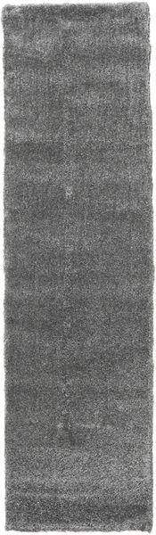 Shaggy Sadeh - Grey Rug 80X300 Modern Hallway Runner  Light Grey/Dark Grey ( Turkey)