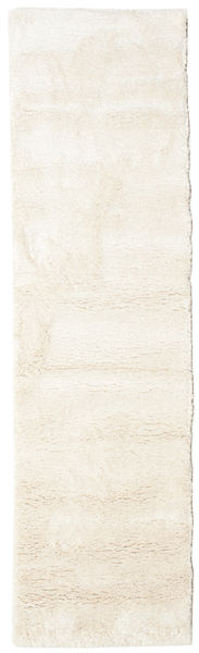 Shaggy Sadeh - Blanc Écru Tapis 80X300 Moderne Tapis Couloir Beige ( Turquie)