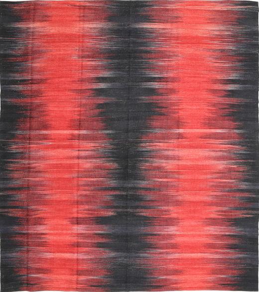 Kilim Moderni Tappeto 256X290 Moderno Tessuto A Mano Grigio Scuro/Arancione Grandi (Lana, Afghanistan)