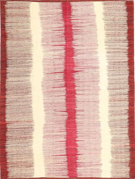キリム モダン 絨毯 212X279 モダン 手織り ベージュ/ライトピンク (ウール, アフガニスタン)