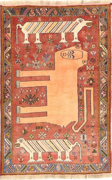 Kaszkaj Dywan 119X183 Orientalny Tkany Ręcznie Czerwony/Ciemnoczerwony (Wełna, Persja/Iran)