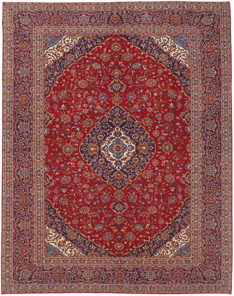 Keshan Matta 300X395 Äkta Orientalisk Handknuten Mörkröd/Mörklila Stor (Ull, Persien/Iran)