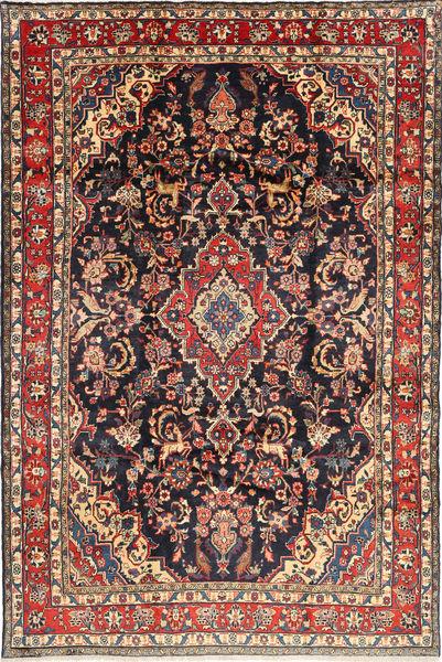 Hamadan Shahrbaf Rug 212X313 Authentic  Oriental Handknotted Brown/Dark Purple (Wool, Persia/Iran)
