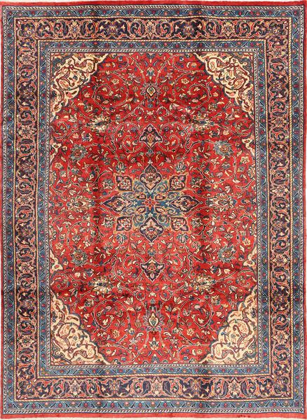 Mahal Rug 225X313 Authentic  Oriental Handknotted Brown/Purple (Wool, Persia/Iran)