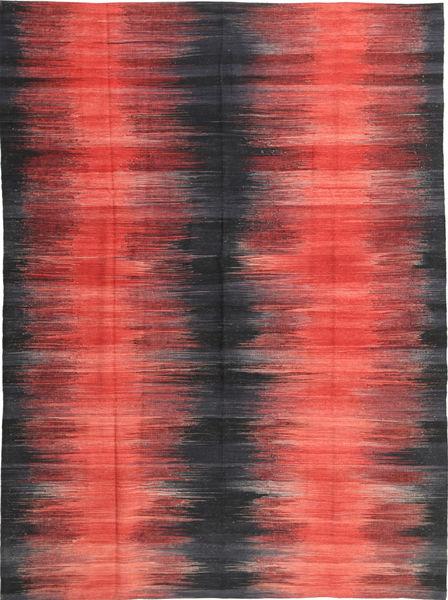 Kelim Moderni Matto 213X285 Moderni Käsinkudottu Punainen/Tummanpunainen (Villa, Afganistan)