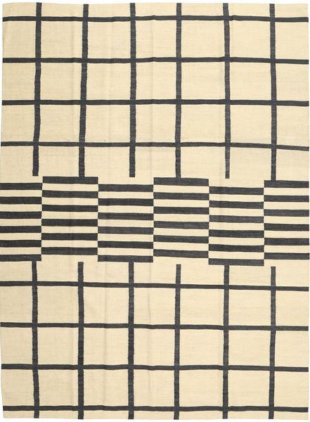 Kelim Moderni Matto 210X285 Moderni Käsinkudottu Beige/Tummanharmaa (Villa, Afganistan)