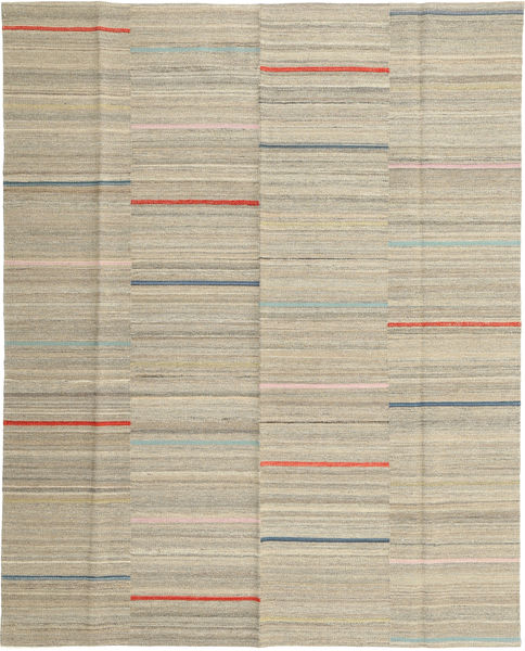 Kilim Modern Rug 164X202 Authentic  Modern Handwoven Light Brown/Light Grey (Wool, Afghanistan)